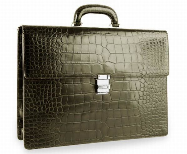 472bb615fb05 Montblanc s Brings Out Alligator Leather Briefcases