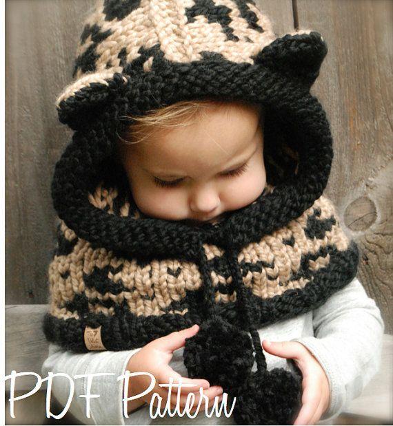 Knitting PATTERNThe Lexington Leopard Hood 12/18 by Thevelvetacorn ...