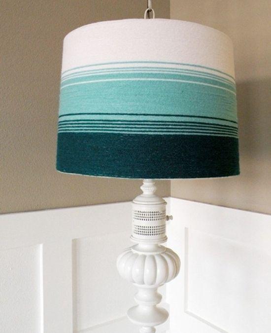 Diy Lamp Shade Tutorials This One Was Made With Yarn Diy Lamp