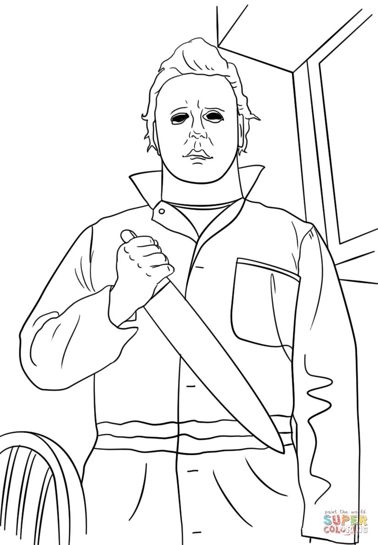 Michael Myers Super Coloring Michael Myers Drawing Michael Myers Art Michael Myers