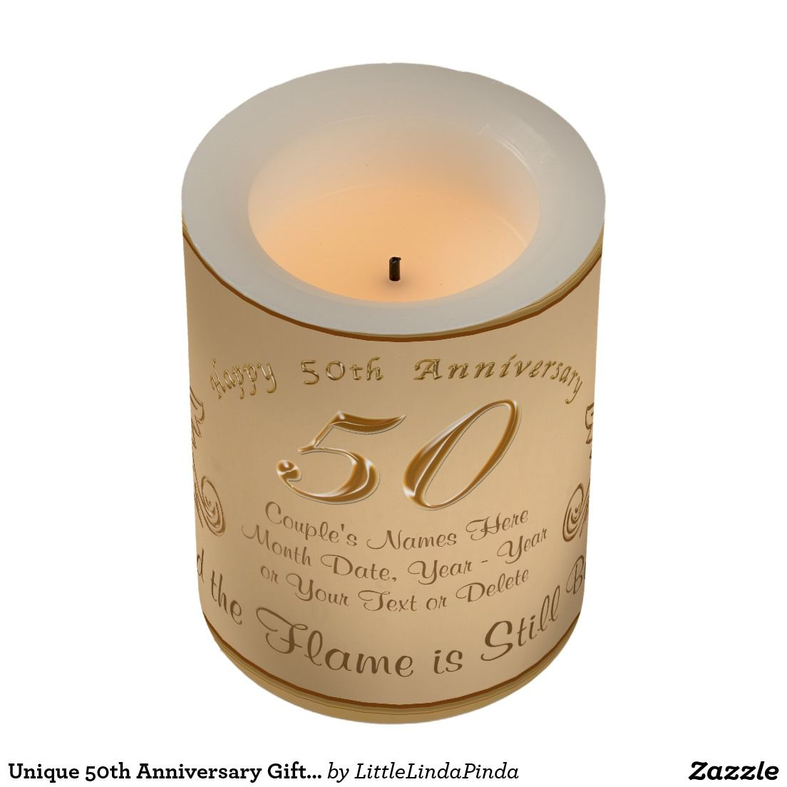 What Do You For 50th Wedding Anniversary Lovely Gifts Personalized Flameless