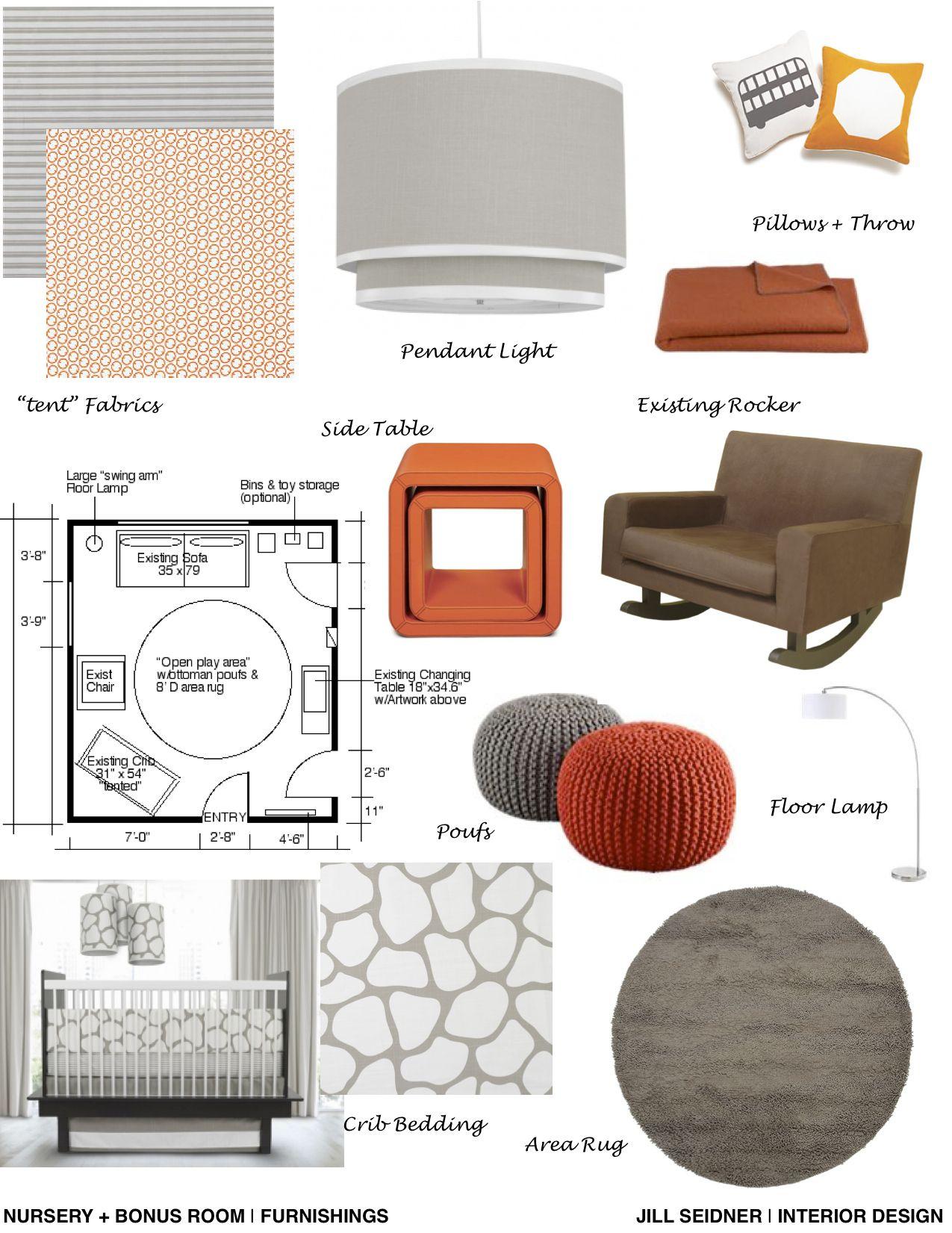 Furnishings Concept Board For Nursery Project Interior Design Mood Board Interior Design Business Interior Design Boards