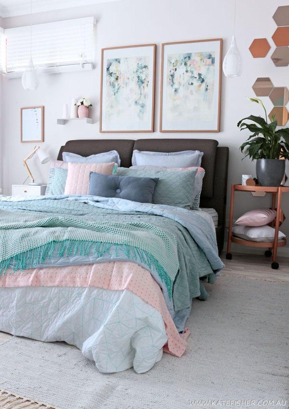 80 Cute Bedroom Design Ideas Pink Green Walls Home Decor Ideas