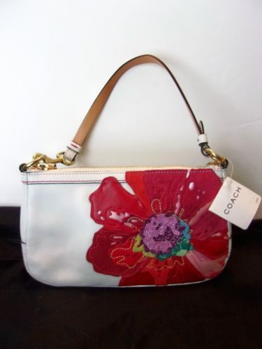 Coach Poppy Flower Demi Shoulder Leather Handbag Purse Nwt In