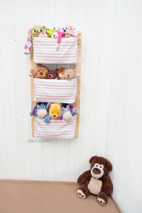 Amazing Wall Mounted Nursery Storage Toy Storage With 3 By OdorsHome