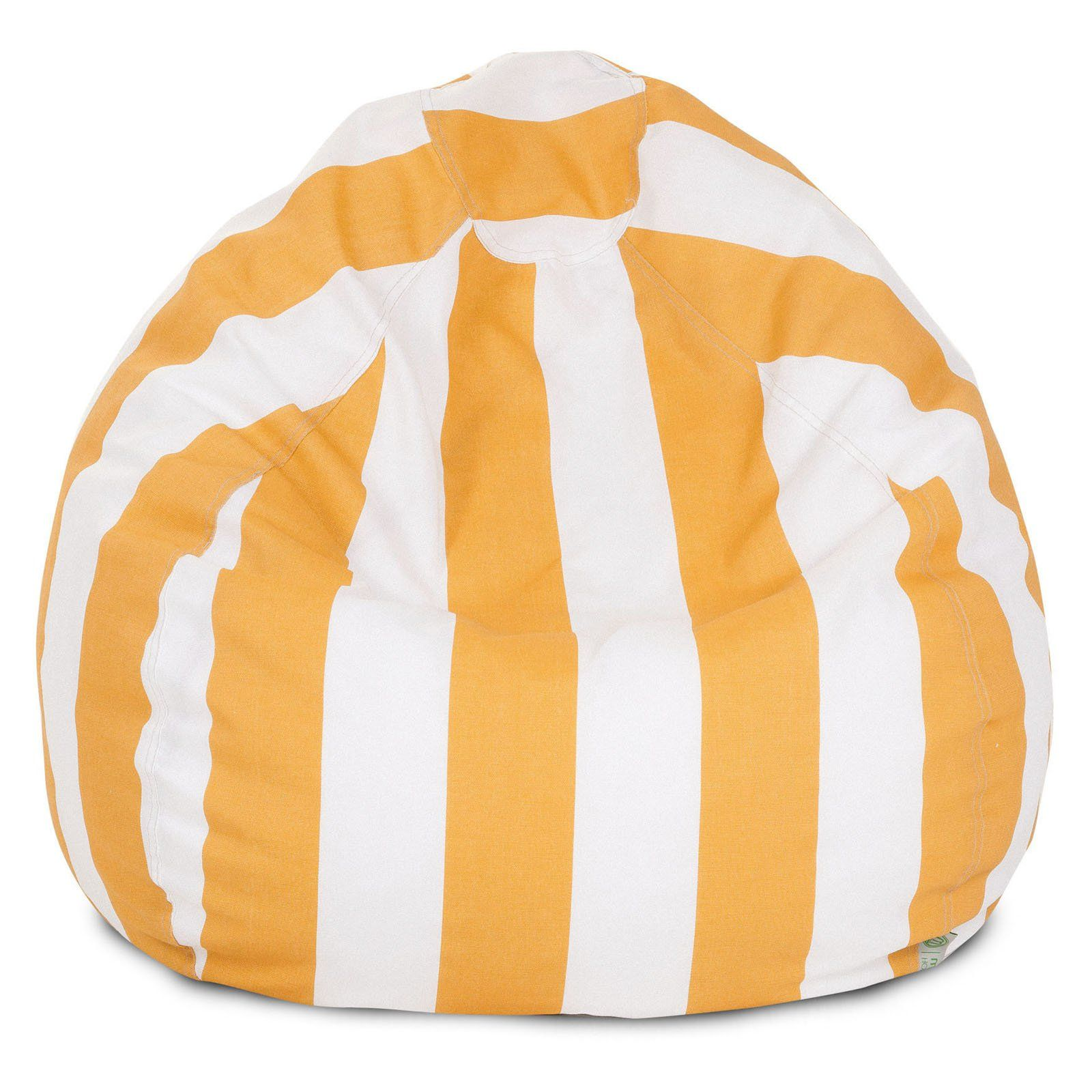 Swell Majestic Home Goods Vertical Stripe Small Bean Bag Yellow In Alphanode Cool Chair Designs And Ideas Alphanodeonline