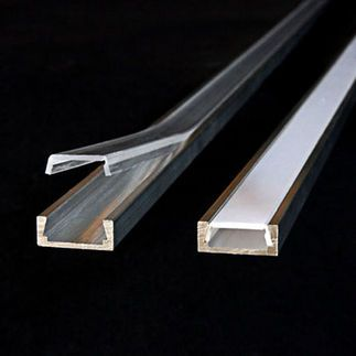 Klus B1888ANODA - 39.4 in. Anodized Aluminum Mounting Channel - Micro - ALU LED Profile - For LED Tape Light