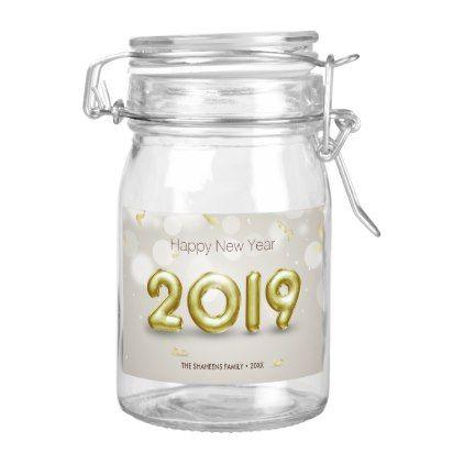 gold foil balloons confetti 2019 food label elegant gifts gift ideas custom presents