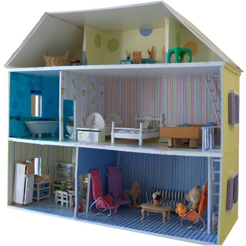 Fabriquer maison de poupée en carton plume - Idées conseils et tuto - maquette de maison a construire