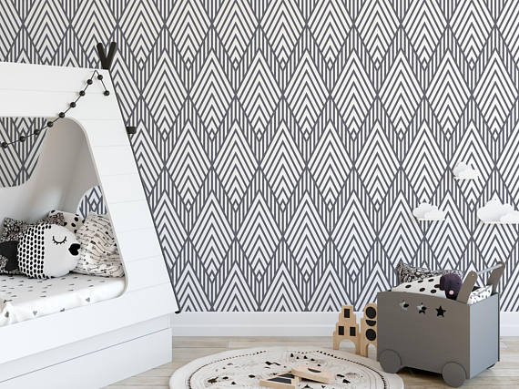 Self Adhesive Removable Abstract Wallpaper Striped Geometric Etsy Abstract Wallpaper Wall Coverings Self Adhesive Wallpaper
