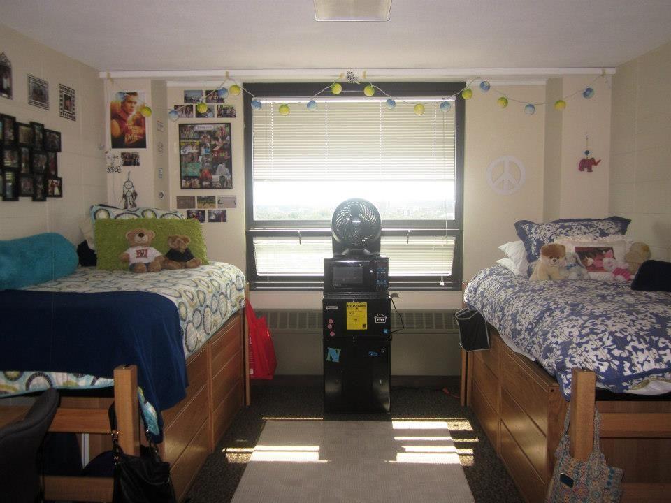 Claflin Hall Double West Campus Dorm Room Decor Dorm Room University Dorms