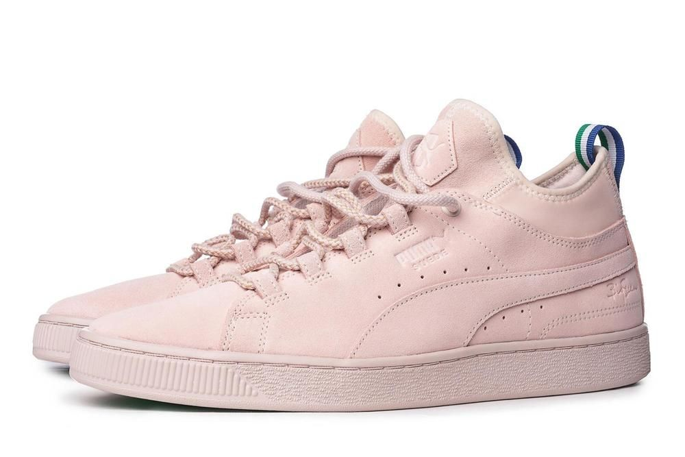 NEW PUMA x BIG SEAN Suede Mid Sneakers Shell-Shell  PUMA  Suede ... 7de25c6f5