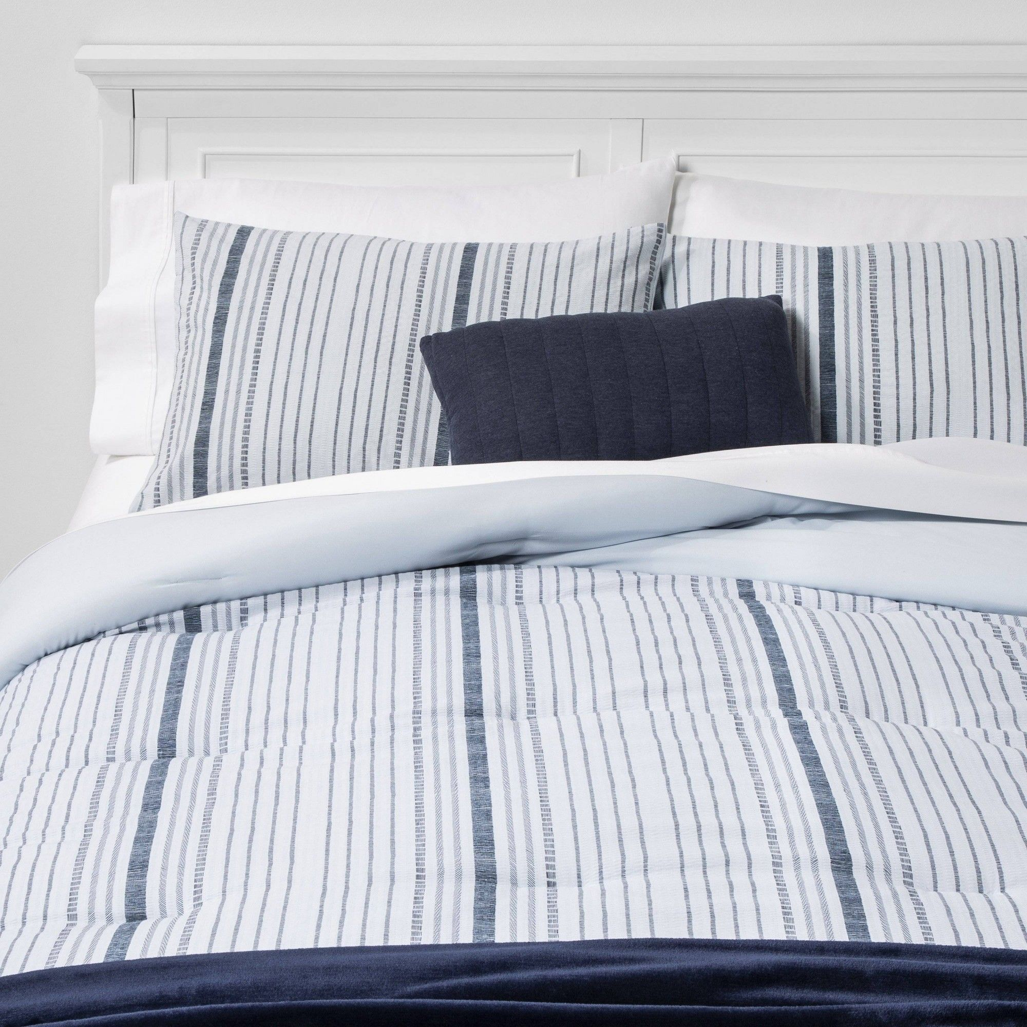 Twin Twin Extra Long Line Work Stripe Bed In A Bag Blue Room