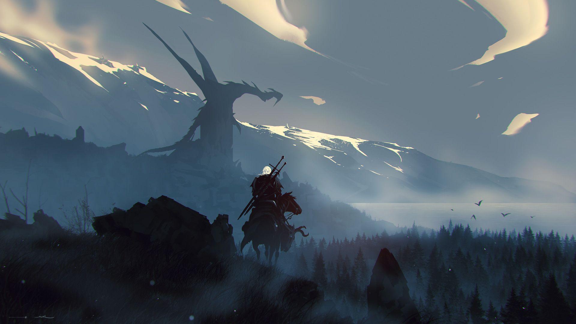 Geralt The Witcher (By ömer tunç)[1920×1080] Фэнтези