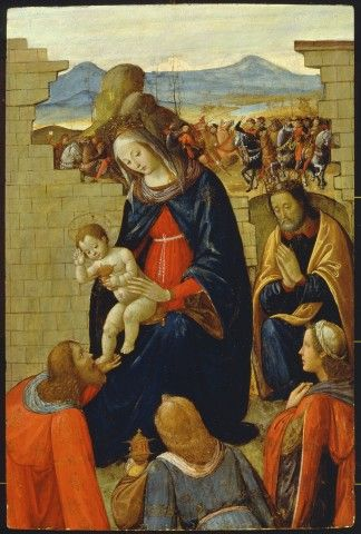 Maestro di Marradi  - Adorazione dei Re Magi - 1480-1485 - Trento, Collezione privata