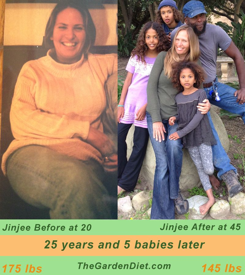Jinjee before and after raw vegan diet before and afters - Garden of life raw meal weight loss plan ...