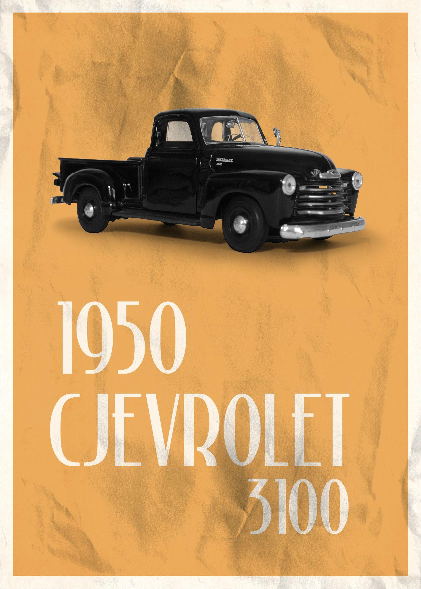 Melih Bertan 1950 Chevrolet 3100 Collection Cars Wallpaper Poster Toys Design Print Creative Art Poster Design Classic Collection Design