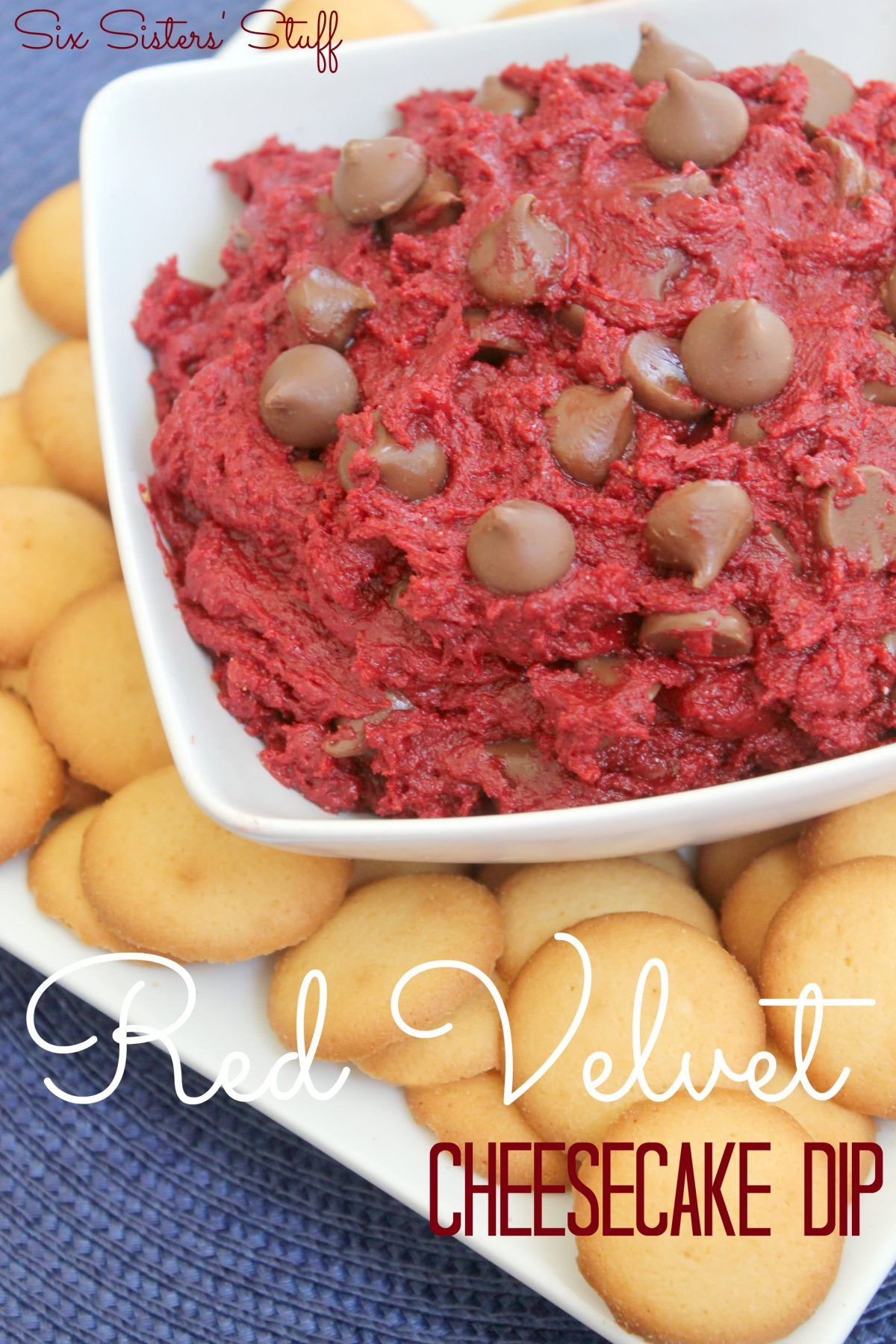 Red Velvet Cheesecake Dip Recipe Recipe Cheesecake Dip Recipe Yummy Dips Sweet Dips