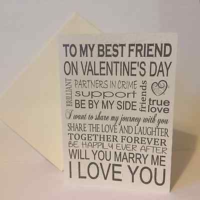 To my best friend on #valentine's day, will you #marry me card ...