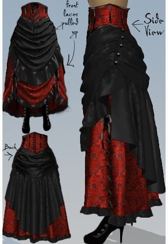 421bf623d44 Victorian Steampunk Bustle Skirt by Amber Middaugh