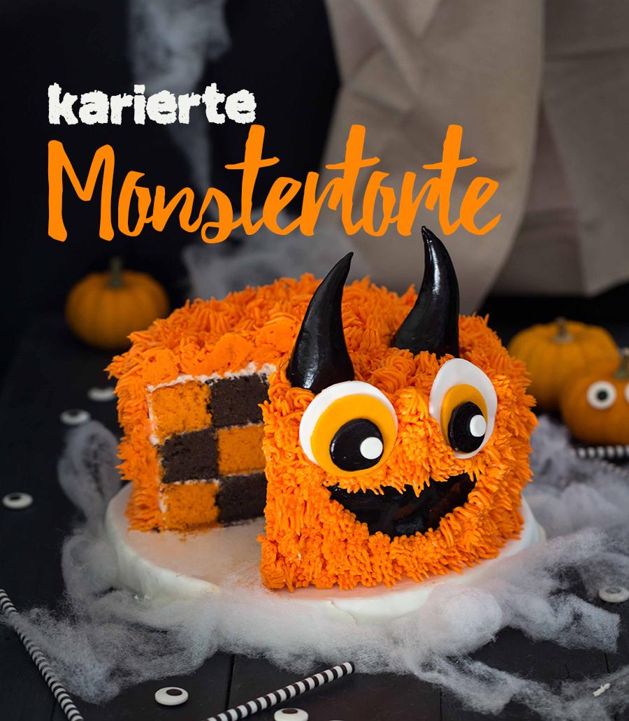 Von wegen! Lecker und witzig muss es an Halloween schon sein. Entdecken Sie die Anleitung von Féerie Cake für diese lustige karierte Monstertorte #repashalloween