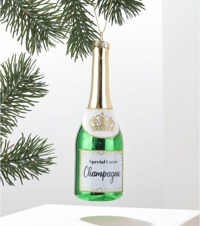 Boule de Noël bouteille de champ' => Canou? #bouledenoel