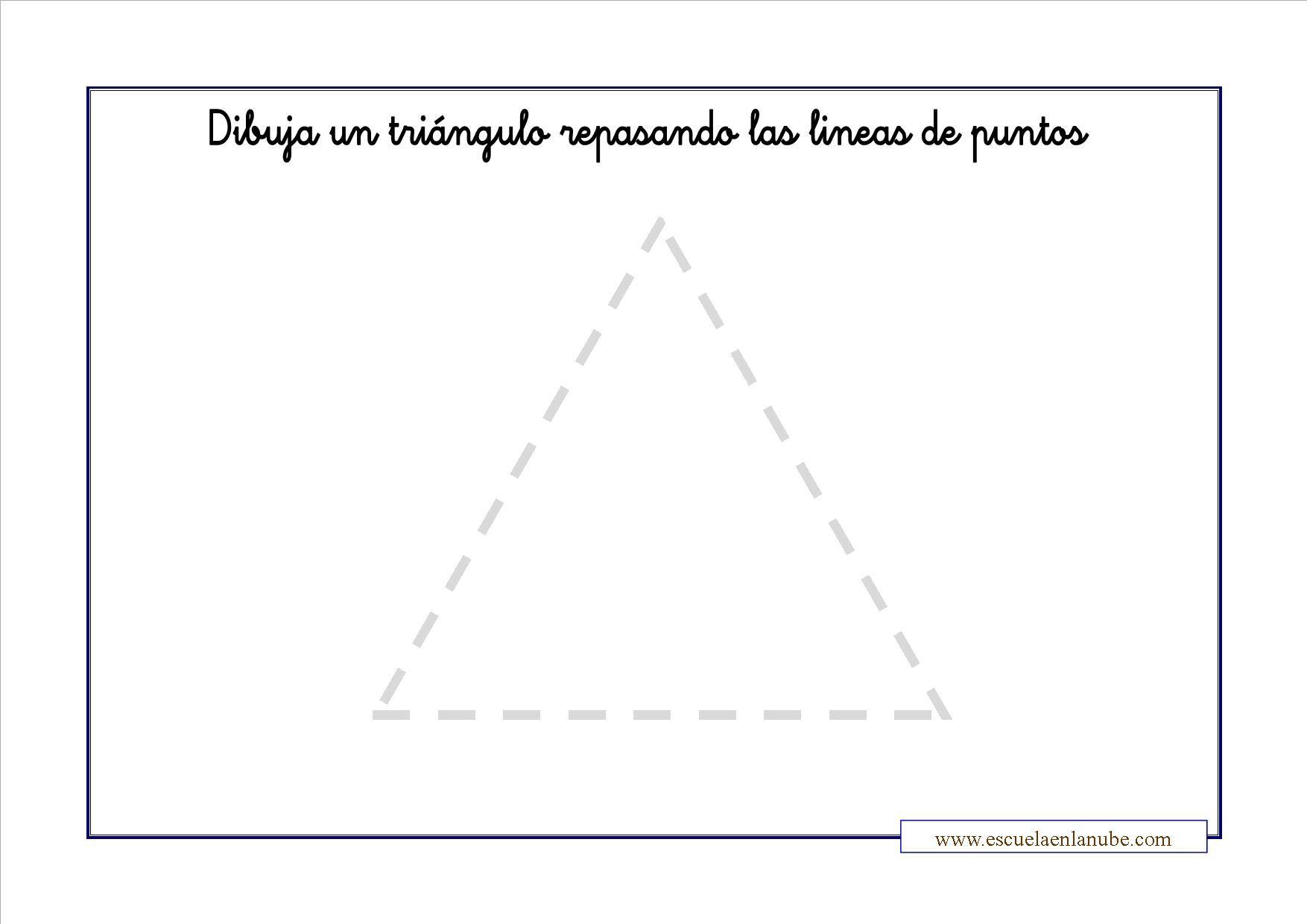 grafomotricidad triangulo - Buscar con Google | P3 | Pinterest