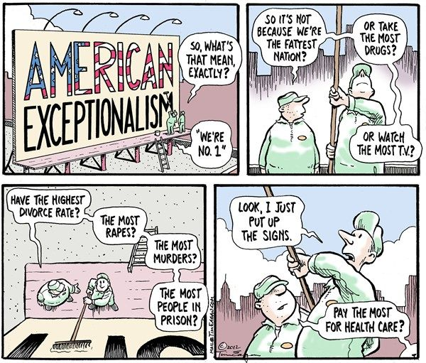 American Exceptionalism By Tim Eagan Deep Cover     American Exceptionalism By Tim Eagan Deep Cover    Am High School Vs College Essay Compare And Contrast also How To Write A Thesis For A Narrative Essay  Analytical Essay Thesis Example
