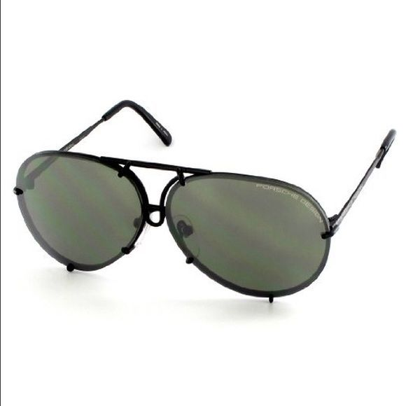 2a5af1069ee Porsche design sunglasses P8478 P 8478 D Matte Black Aviator Sunglasses  60mm W Extra Lens Porsche design Accessories Sunglasses