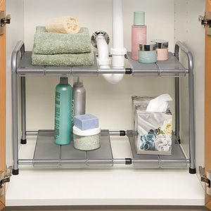 Superb Expandable Under The Sink Organizer. I Have These In My Bathrooms And LOVE  Them!