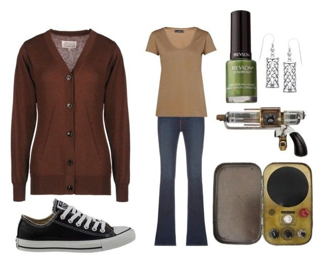 """""""Artie"""" by janie51girl ❤ liked on Polyvore featuring Maison Margiela, Converse, Frame Denim, Hallhuber, Revlon and Carolina Glamour Collection"""