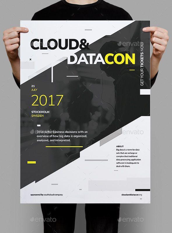 Datacon Corporate Poster Fyer Photoshop Psd Startup Start Up Download Holiday Poster Design Event Poster Design Graphic Design Posters