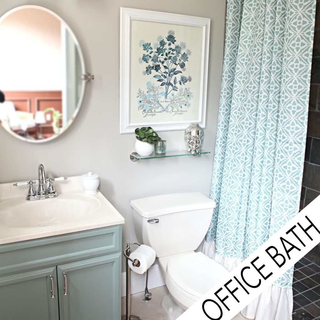 office bathroom reveal | bathroom color schemes, cheap bathroom makeover, diy bathroom remodel