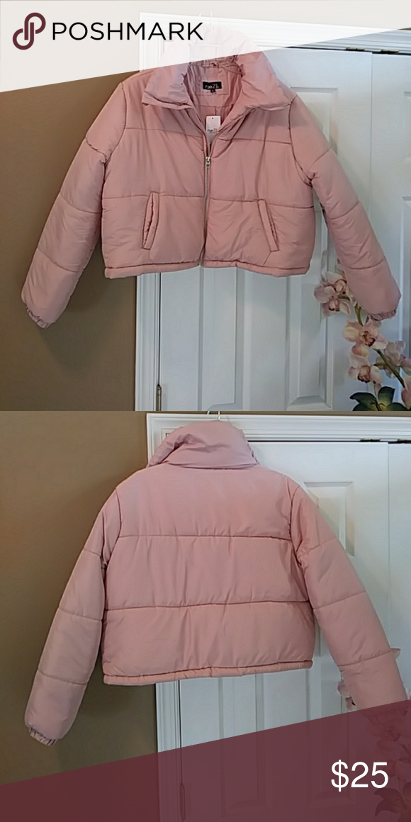 39fbfe3e81787 Rue 21 Cropped Puffer Jacket Cute Junior cropped pink puffer jacket. 100%  polyester. Brand new with tag. Rue21 Jackets & Coats Puffers