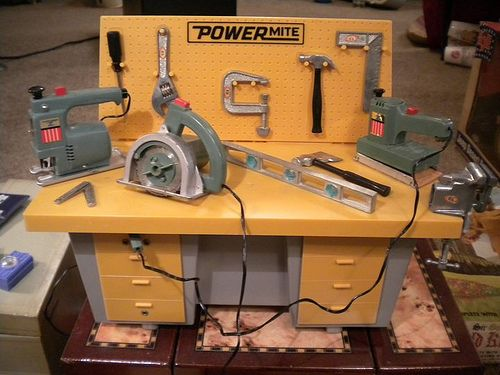 Ideal Powermites Power Mites Miniature Working Power Tools Vintage Toys Old Toys Cool Toys
