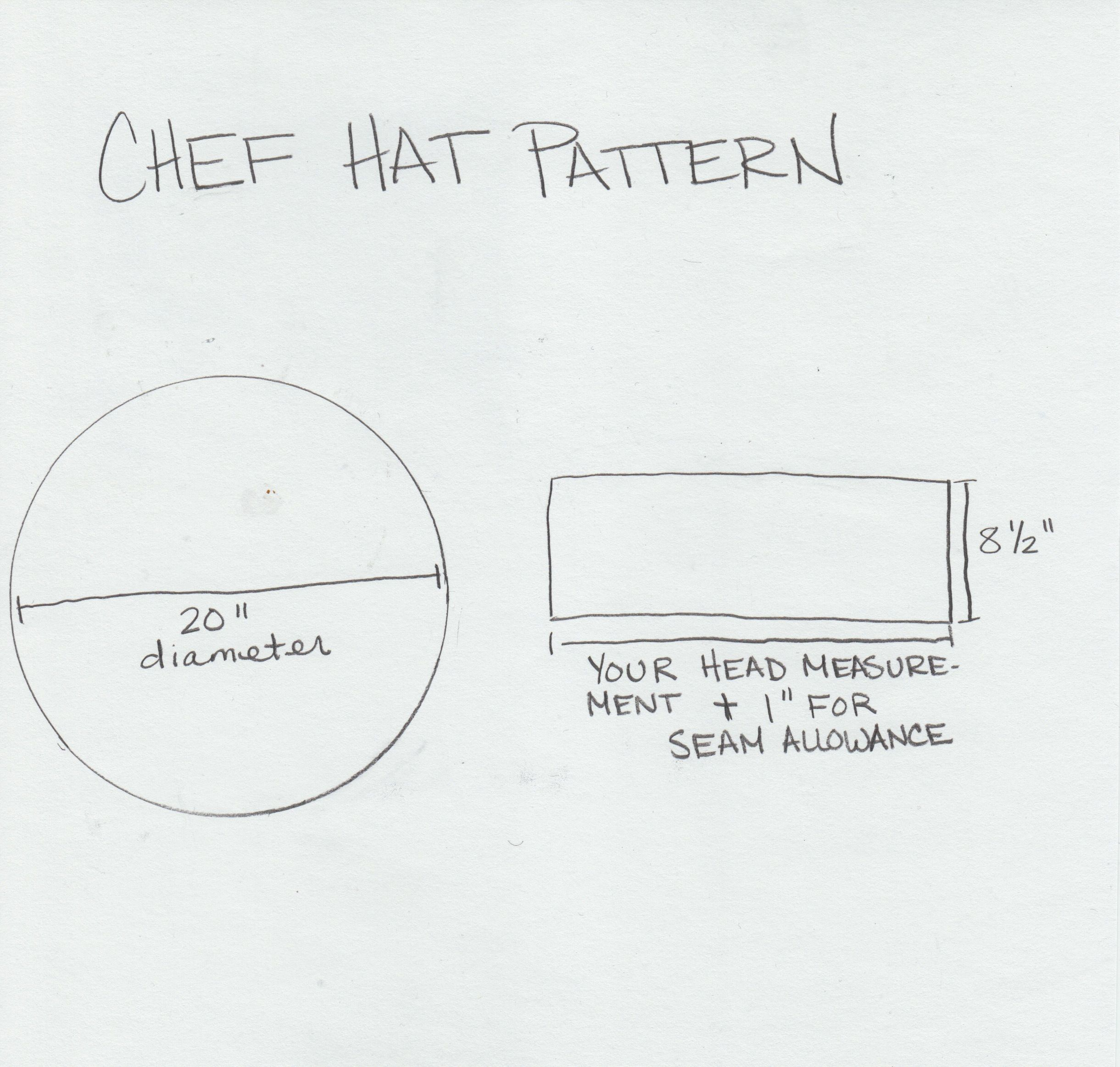 make a bbq hat and apron chef hats for kids paper chef. Black Bedroom Furniture Sets. Home Design Ideas
