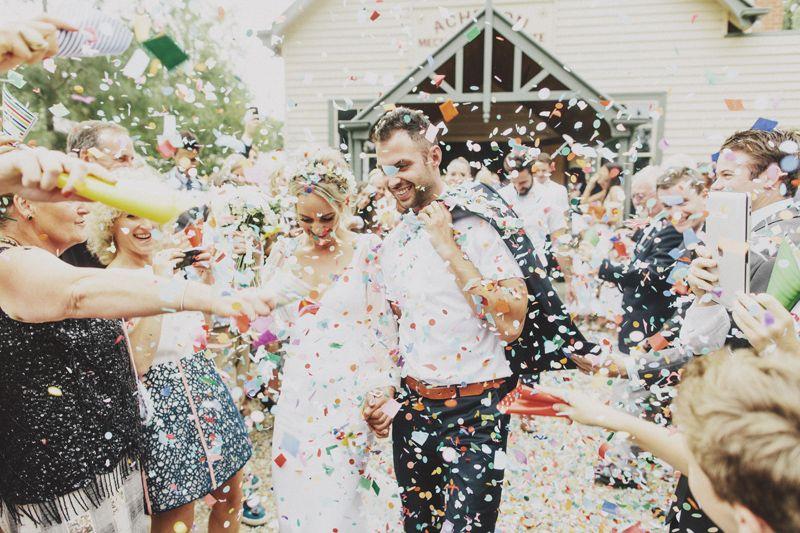 Melbourne Wedding Stonelea Estate Matt And Monique Wedding Confetti Wedding Venues Melbourne Wedding Confetti Toss