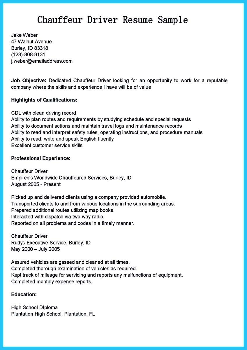 awesome stunning bus driver resume to gain the serious bus driver job