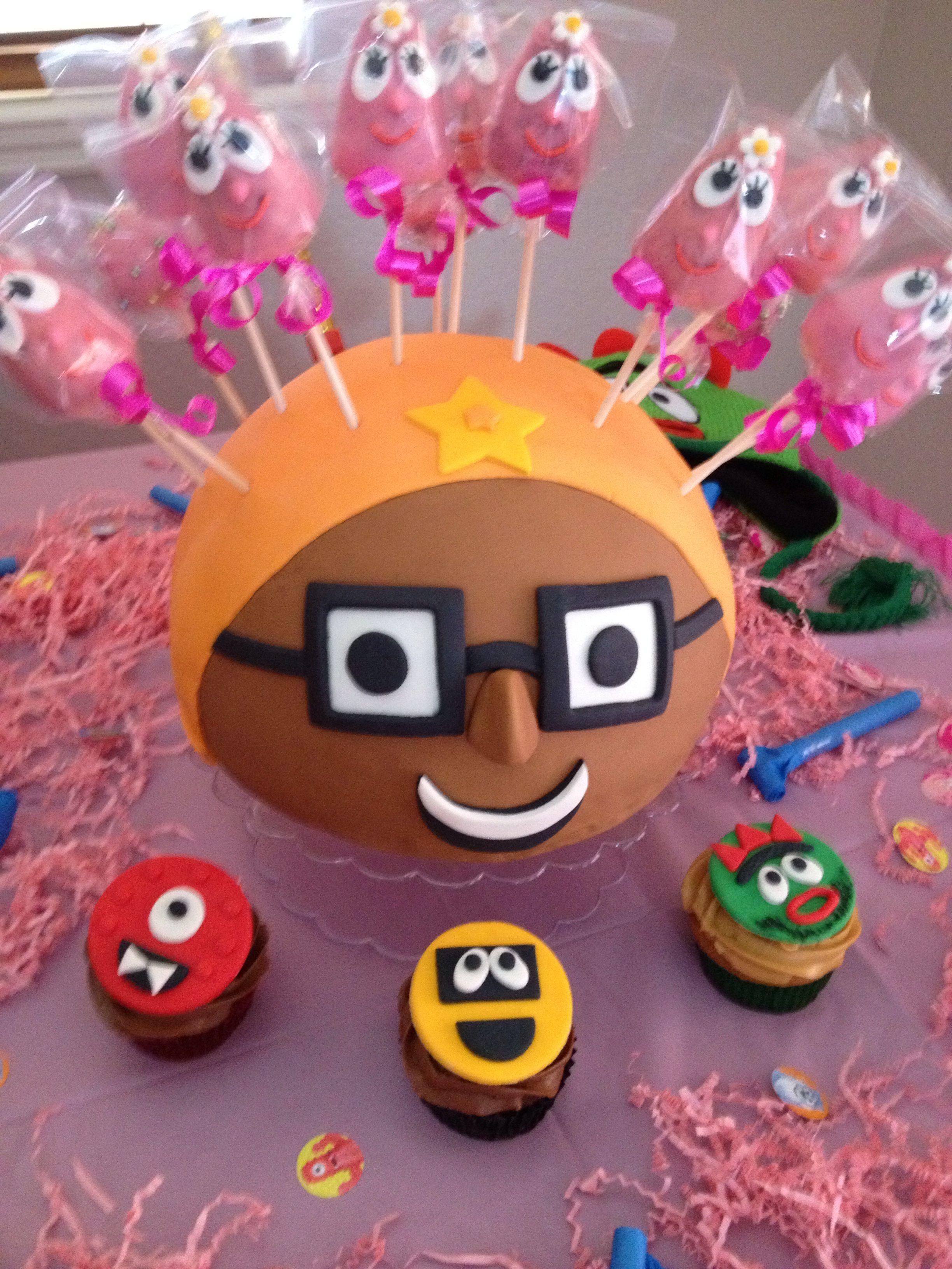 Cake pops Tema infantil yo gabba gabba Creación de Silvia's Cake.