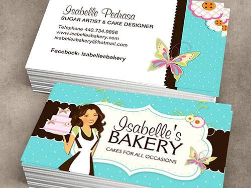 Isabelles bakery business card templateg 500375 namecards make your own business cards online from creative templates reheart Choice Image