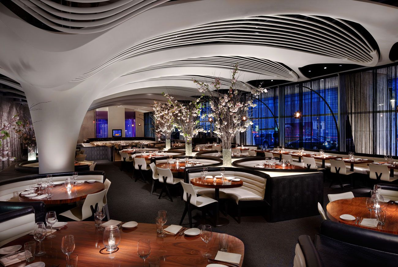 Stk Midtown Has Taken Cues From Its Sister Restaurants But Adapted To Latest Environment The Grace Building Built In 1974 S Dramatically