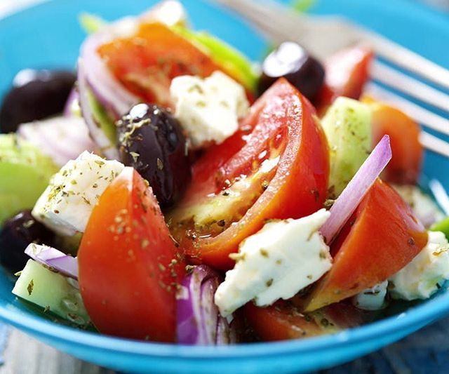 My favourite  Traditional Greek salad  it's so easy!! Check out my blog on it at ww... | Use Instagram online! Websta is the Best Instagram Web Viewer!