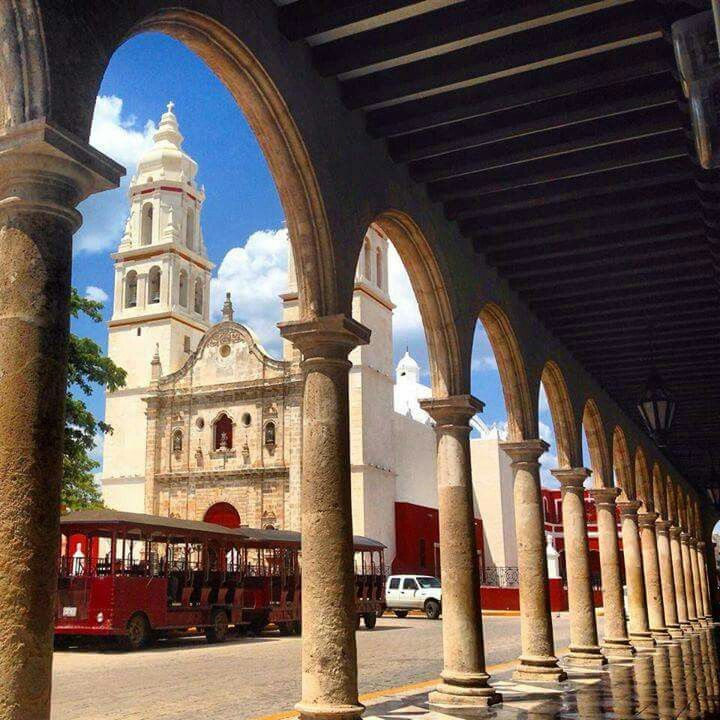 Cathedral in Campeche ... Francisco, San, america ...   Campeche City Monuments