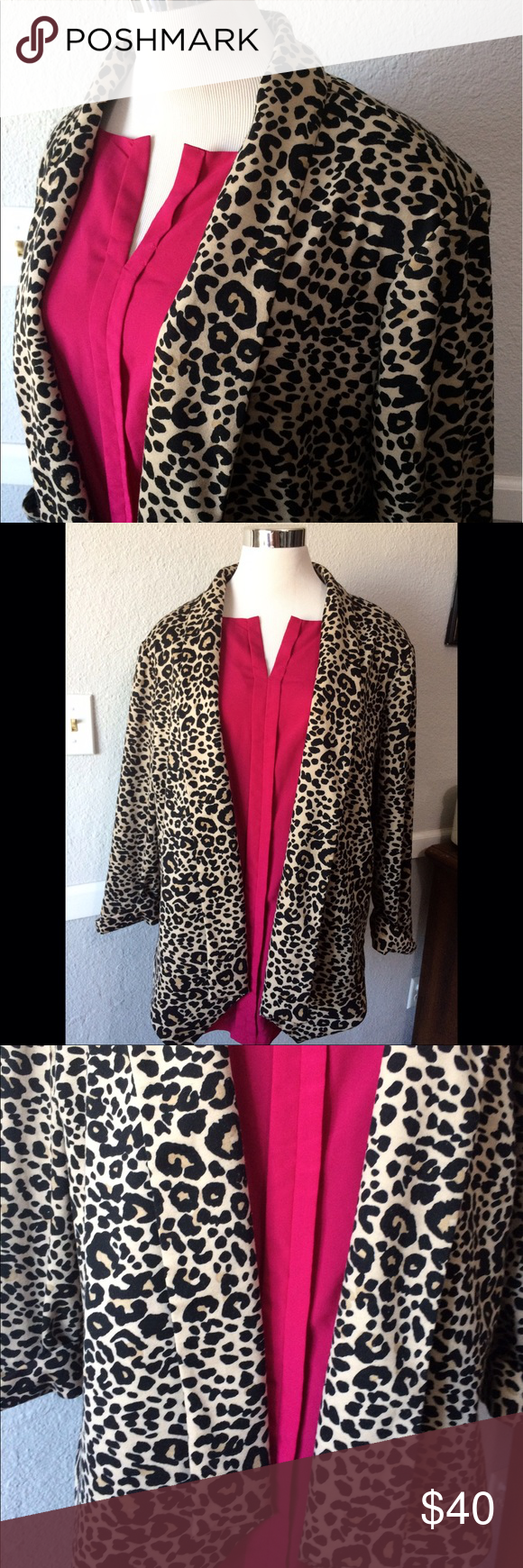 CATO Leopard Waterfall Cardigan Plus Size 22   Leopards, Stylish ...