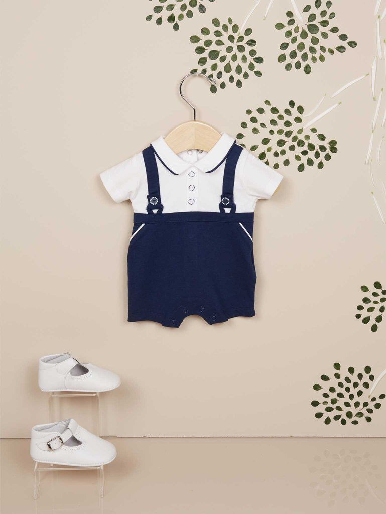 8dae96d378f0 MAYORAL Navy and White Newborn Baby Boy Romper Set