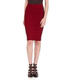 5c968cdf8 BCBGMAXAZRIA Leger Bandage Pencil Skirt - Dillard's   How to Wear ...