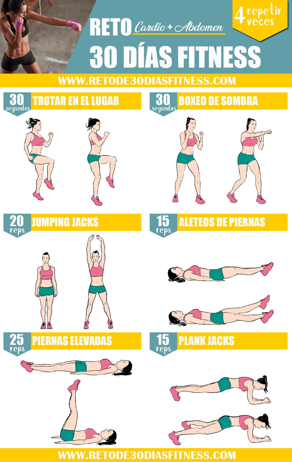 rutina de ejercicios para quemar grasa y tonificar mujer