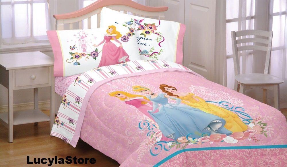 Disney Princess Dreams Reversible Full Size Comforter Cinderella Aurora Bella Kids Comforter Sets Bed Disney Princess Bedding Twin