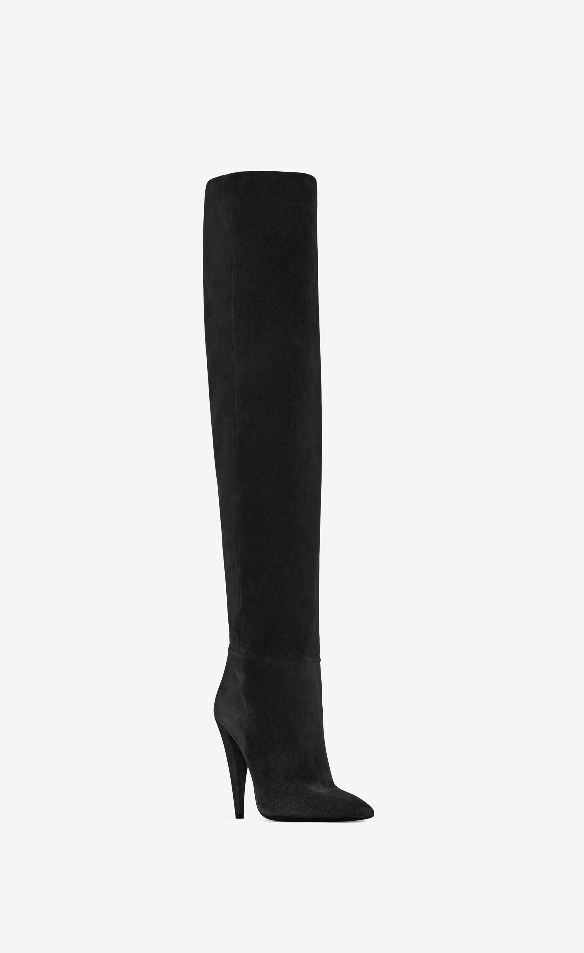 61ffe82279cf2 Saint Laurent - Era 110 boots in black suede