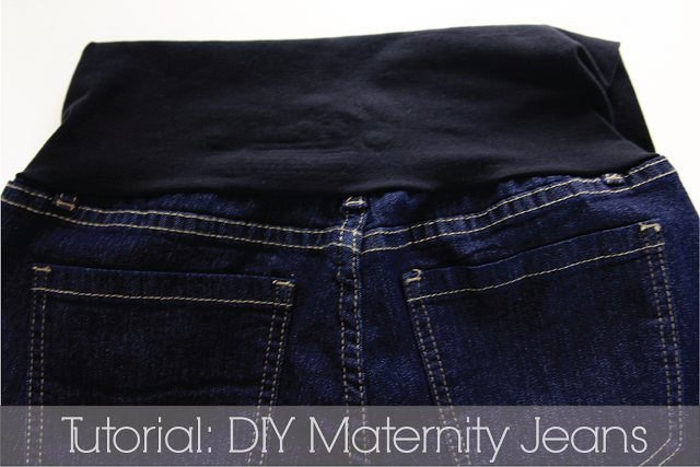 DIY Maternity Jeans, great simple instructions with excellent pictures!!!  Can't wait to make these.